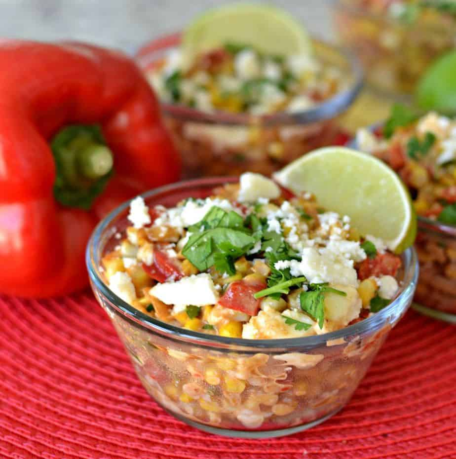 This refreshing mexican street corn salad recipe is the perfect, simple summer salad