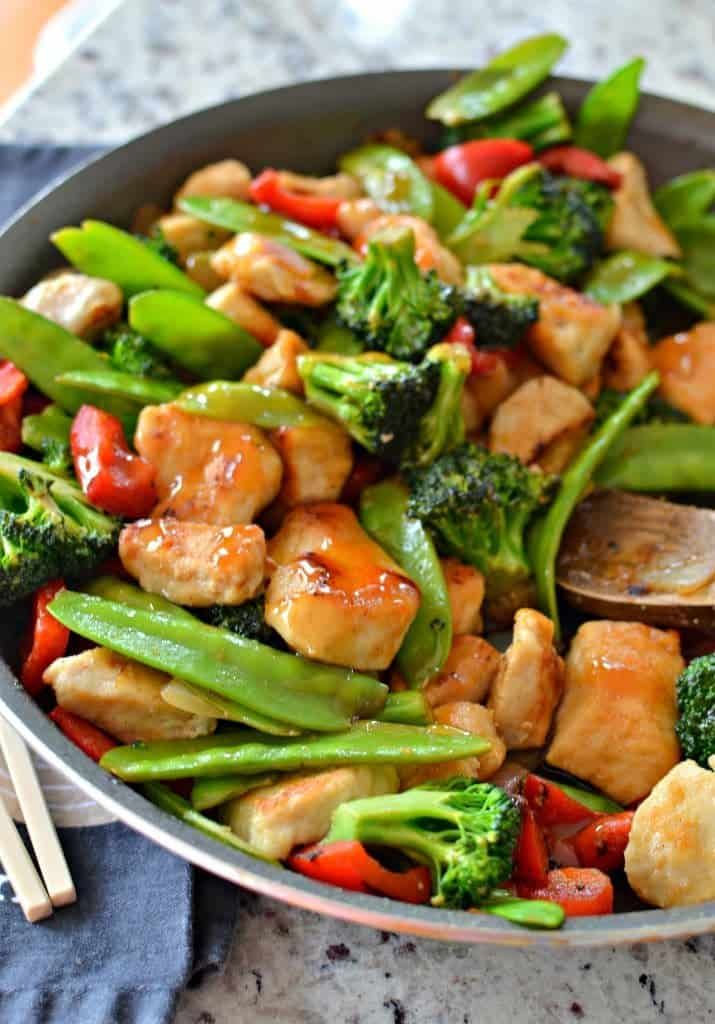 Ginger Chicken Stir Fry Small Town Woman