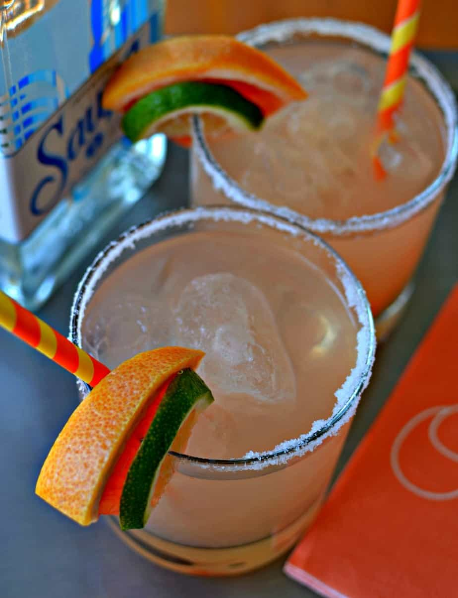 Make a pitcher of these delicious and easy grapefruit margaritas for your upcoming summer party.