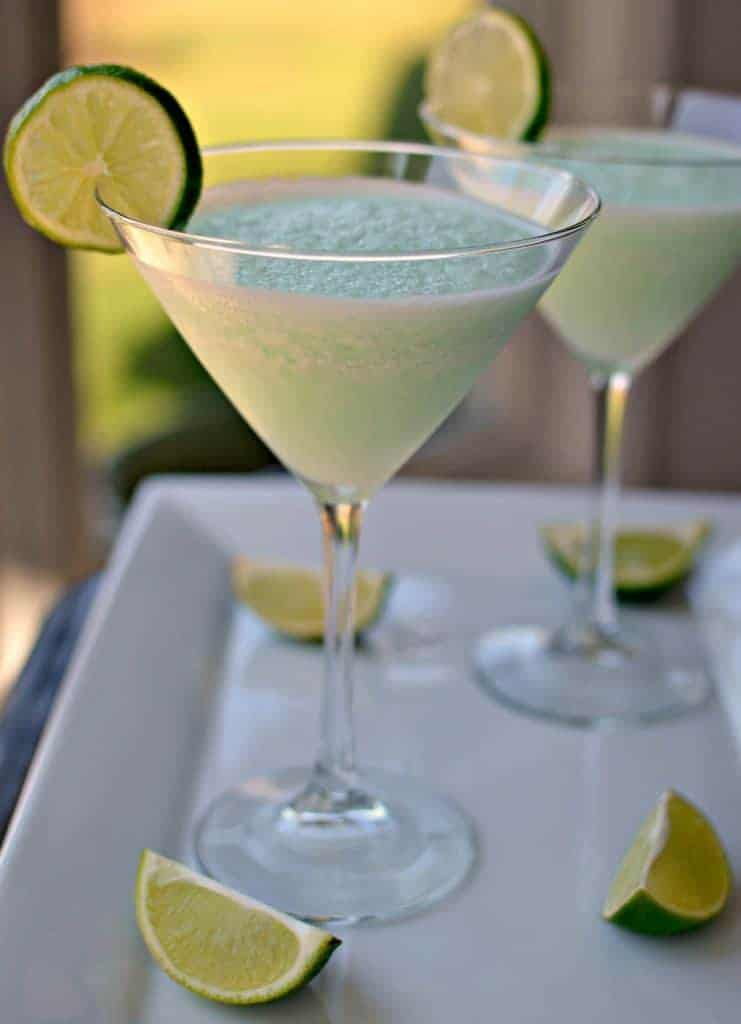 This refreshingly tangy blended key lime martini is a tasty summer drink