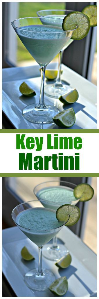 This sweet and tangy blended key lime martini is a refreshing summer drink that's perfect for a hot day