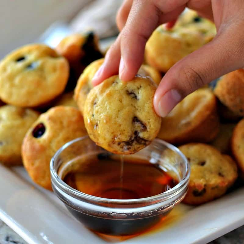 Make a double batch of pancake muffins today and freeze one for next week.