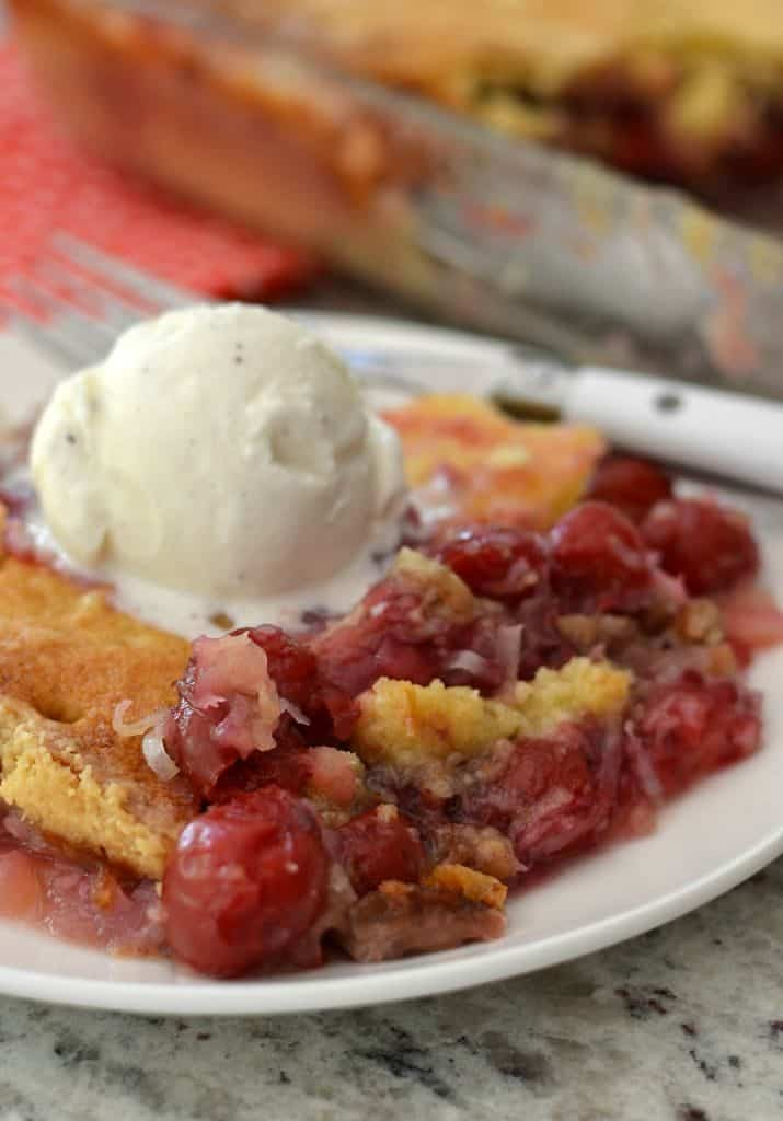 Cherry Pineapple Dump Cake With Pecans