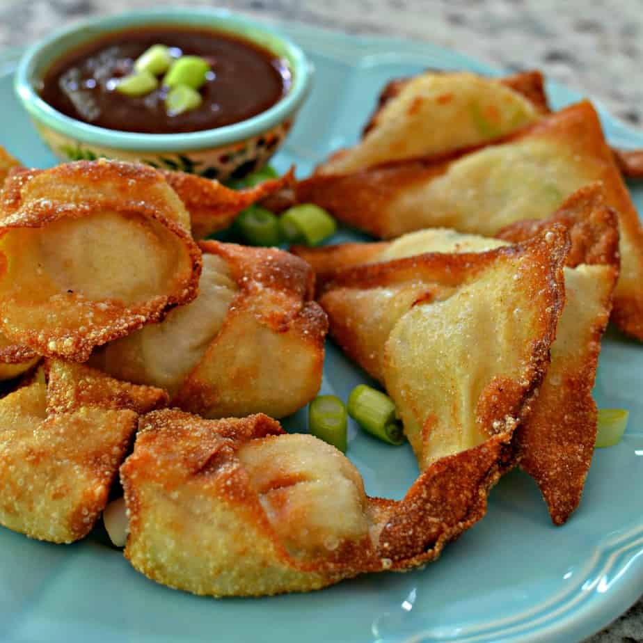 These delectable Crab Rangoons can be prepped ahead, flash frozen and fried right before the event.
