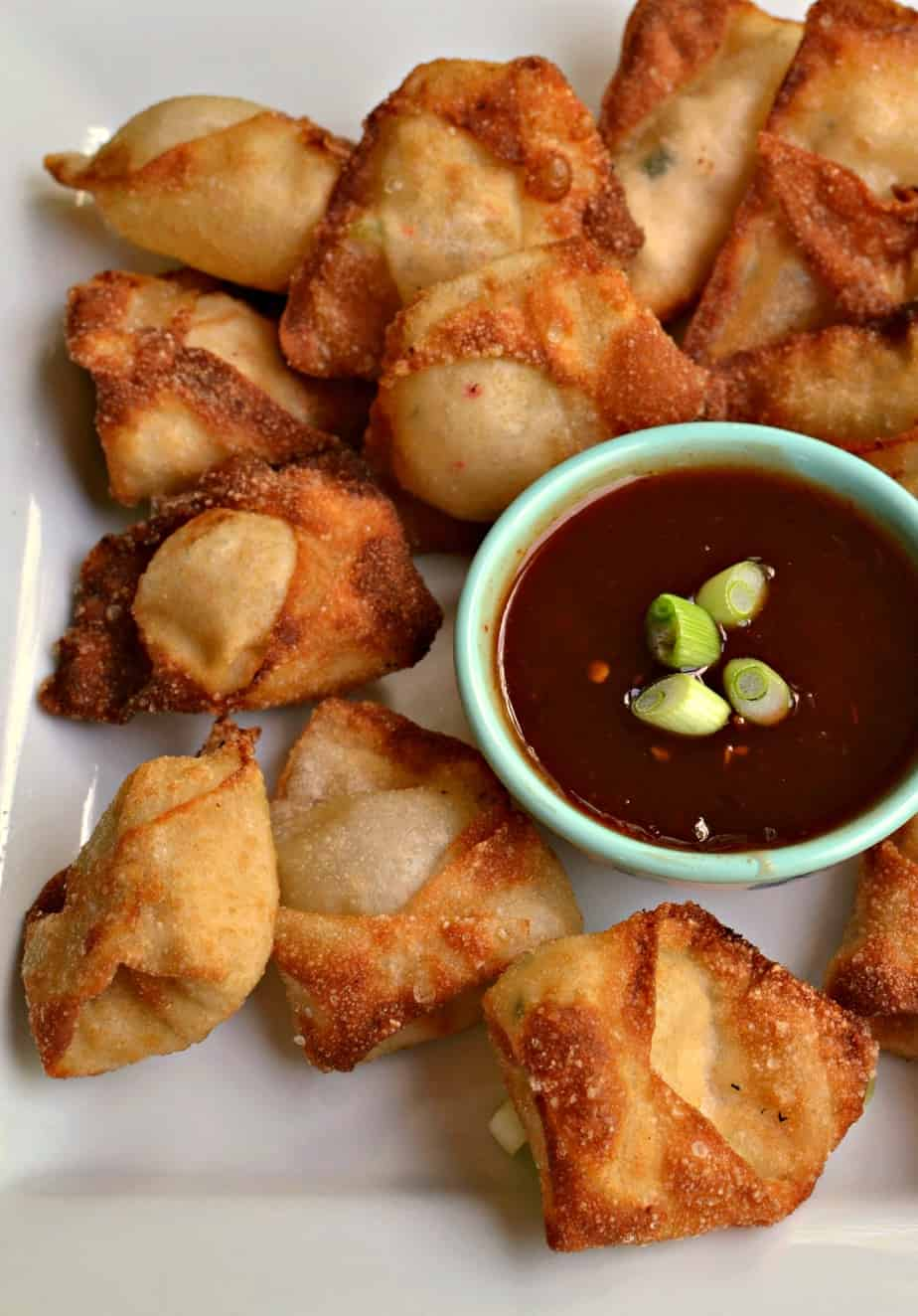 Crab Rangoons are always a favorite party appetizer and I love to serve them at holiday cocktail parties.