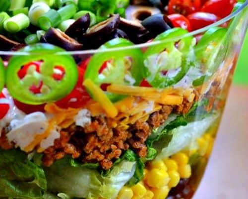 Easy Layered Taco Salad Recipe