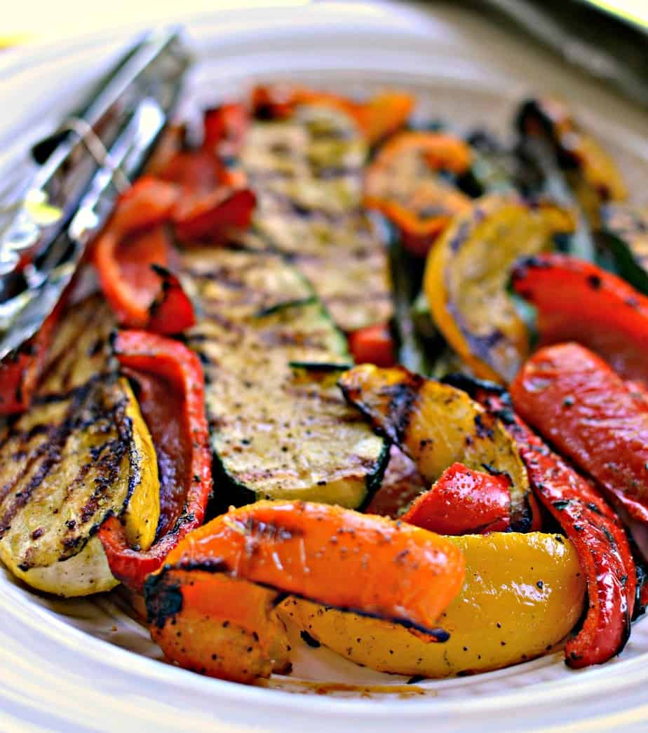 Grilled Vegetables bring together peppers, zucchini, squash, onions and asparagus all topped with a balsamic reduction.