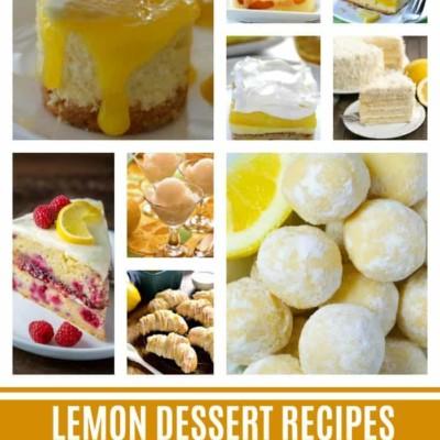 40 Lemon Dessert Recipes