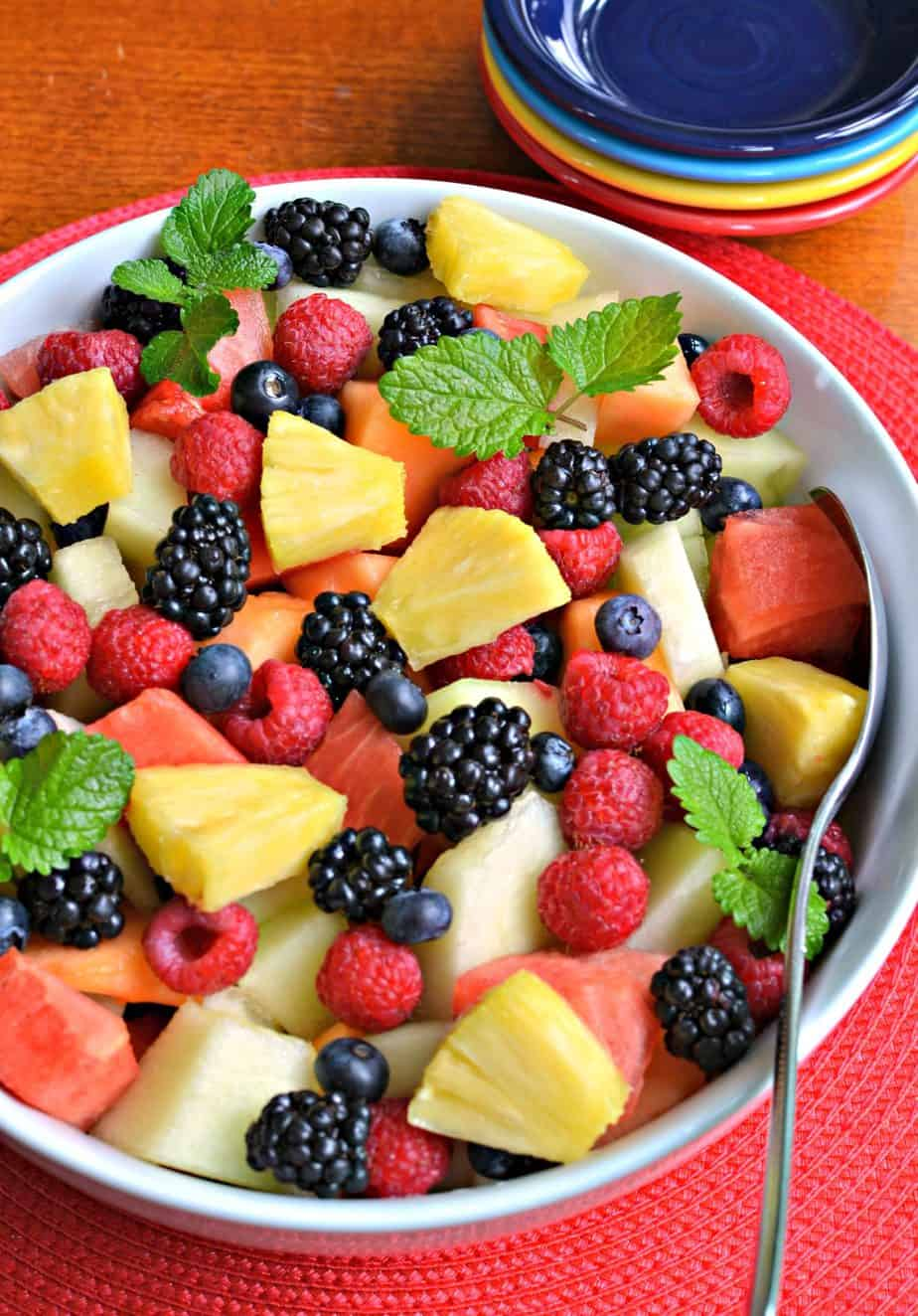 This colorful and refreshing summer fruit salad has all the best summer fruits.