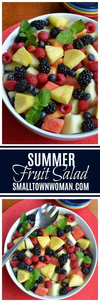 A Simple Summer Fruit Salad Recipe by Small Town Woman