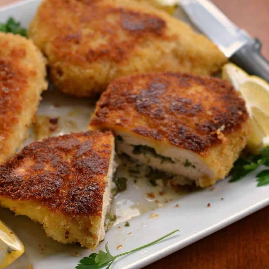 Easy Pan Fried Chicken Kiev