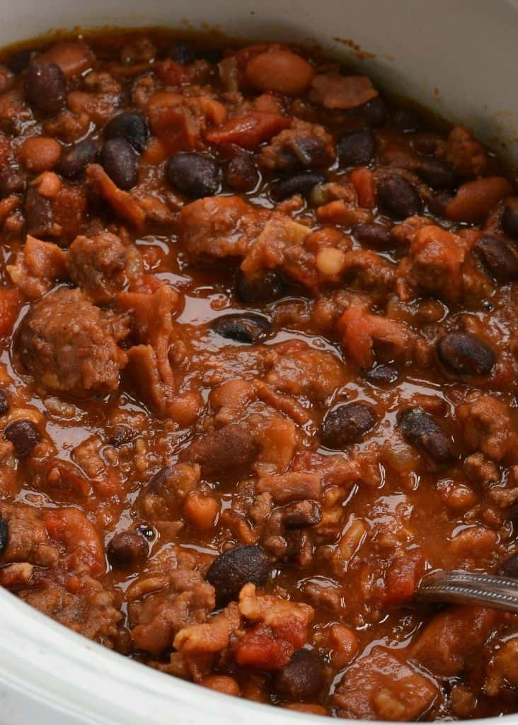 Easy Crock Pot Cowboy Beans Small Town Woman