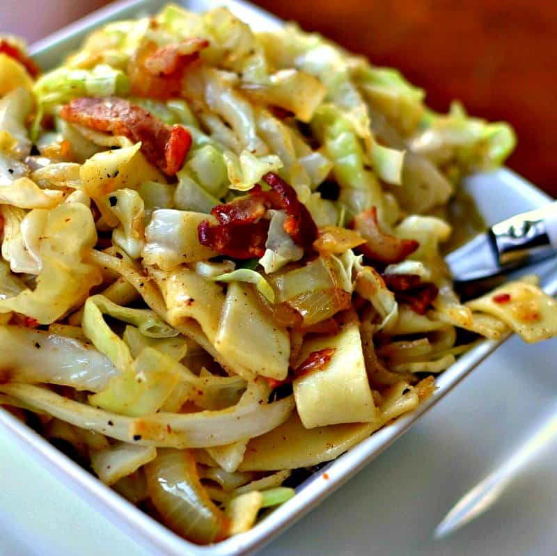 Haluski Bacon Cabbage And Noodles Small Town Woman