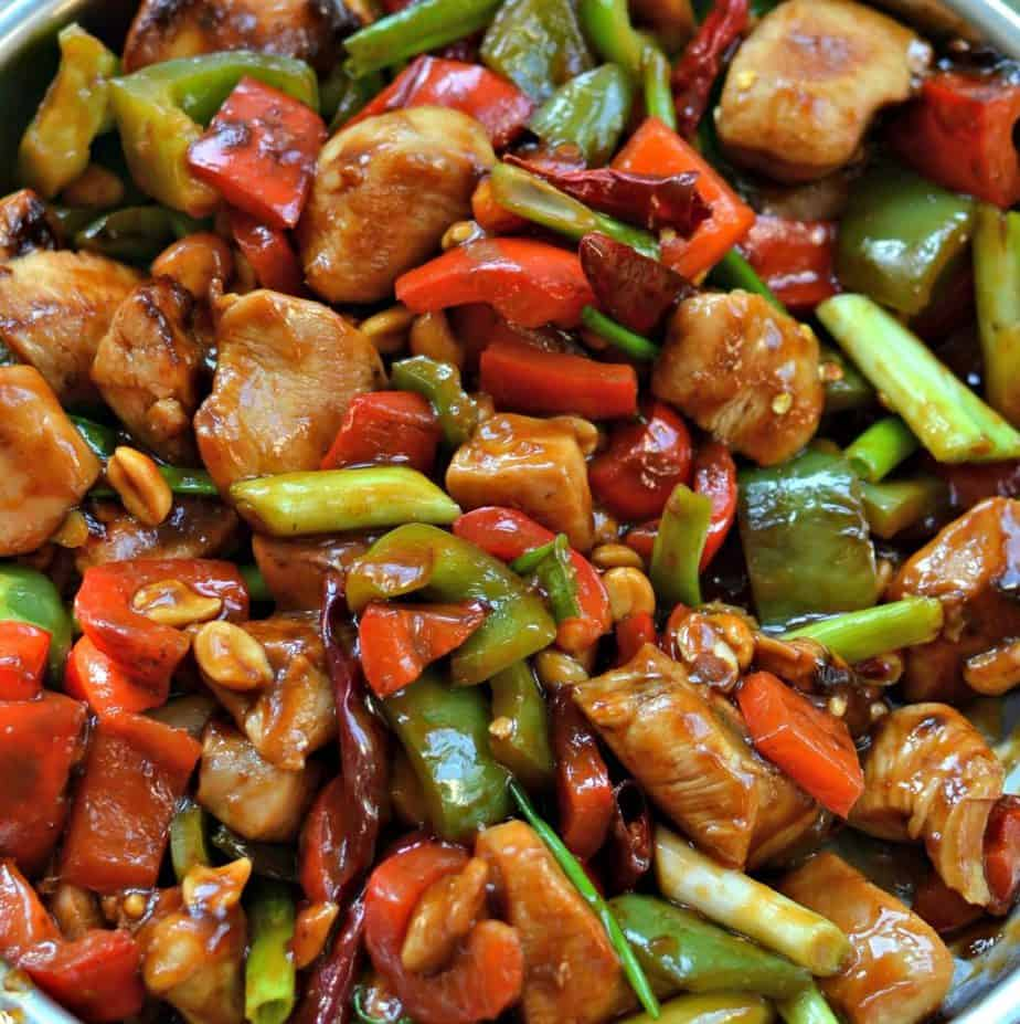 One Skillet Kung Pao Chicken is a delicious at-home version of your favorite Chinese takeout.