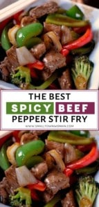 Spicy Beef and Pepper Stir Fry