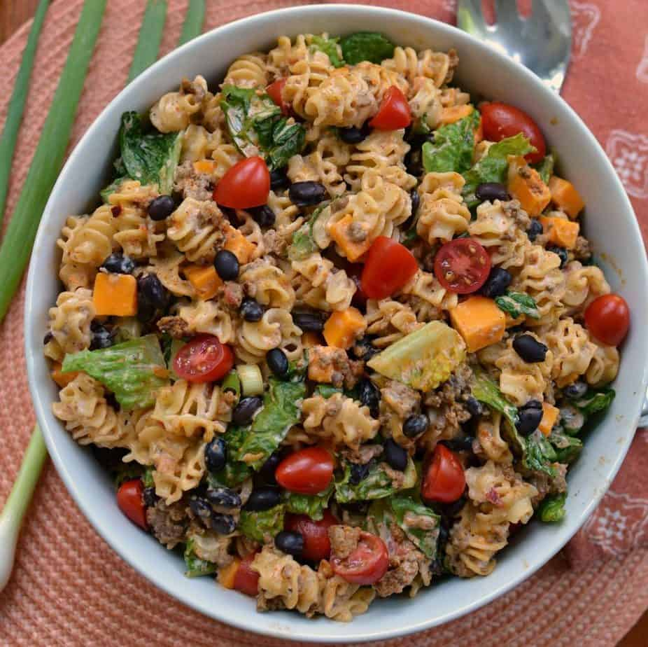 Taco Pasta Salad (An Easy Family Friendly Meal In Under 30