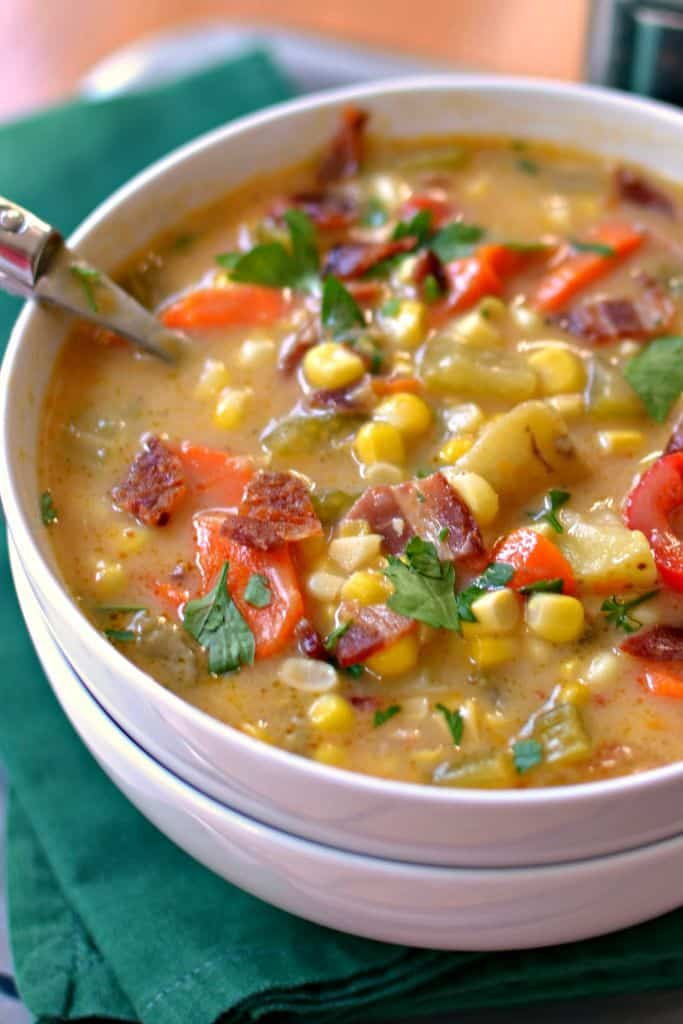 Corn Chowder is the perfect heart-warming soup for a cold evening
