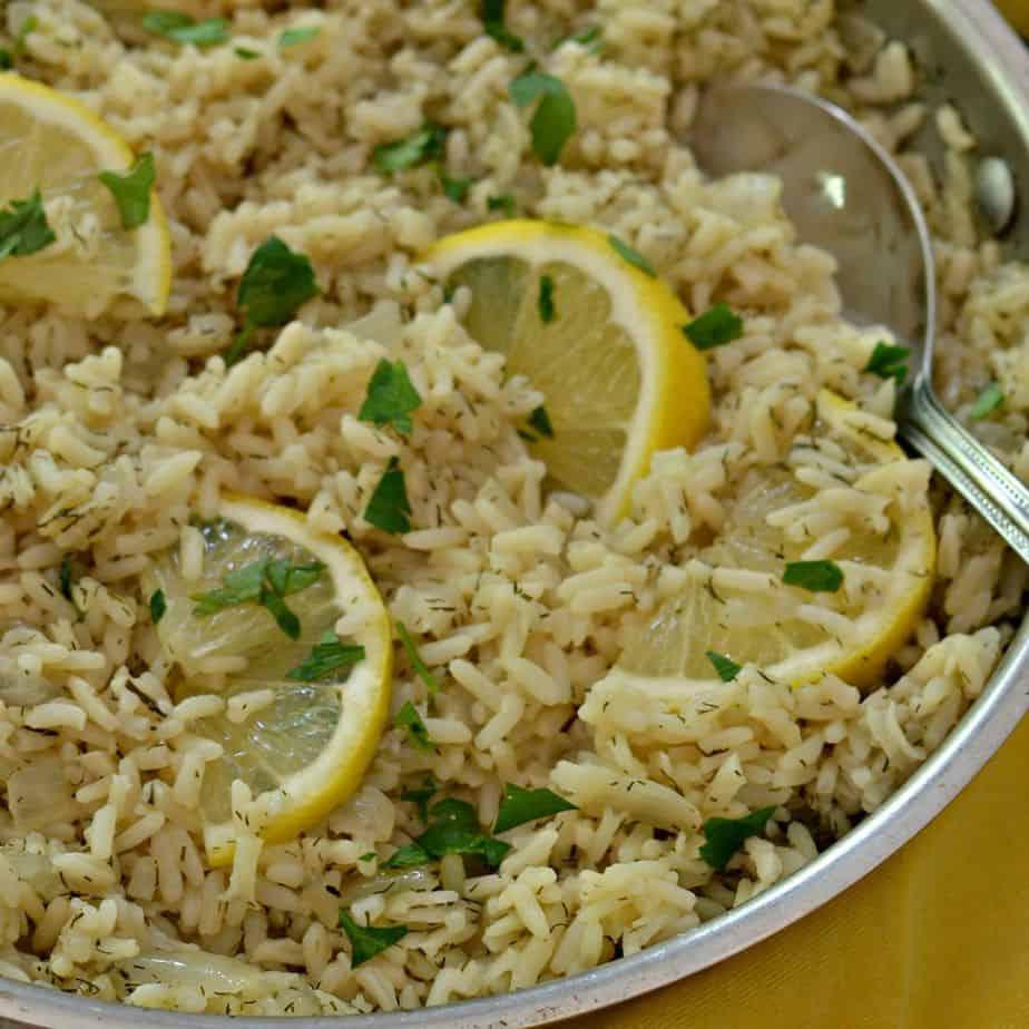 One Skillet Lemon Rice