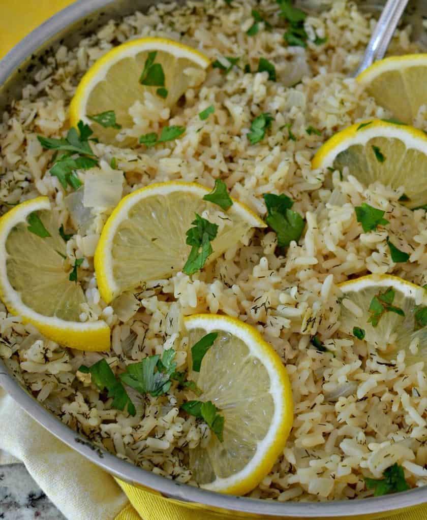 Lemon Rice (A Delicious Lemon Lovers One Skillet Easy Recipe)