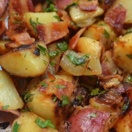 Skillet German Potato Salad with Bacon