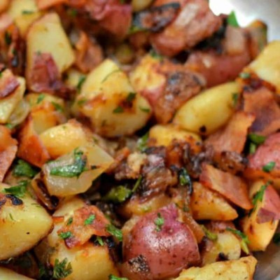 Skillet German Potato Salad with Bacon