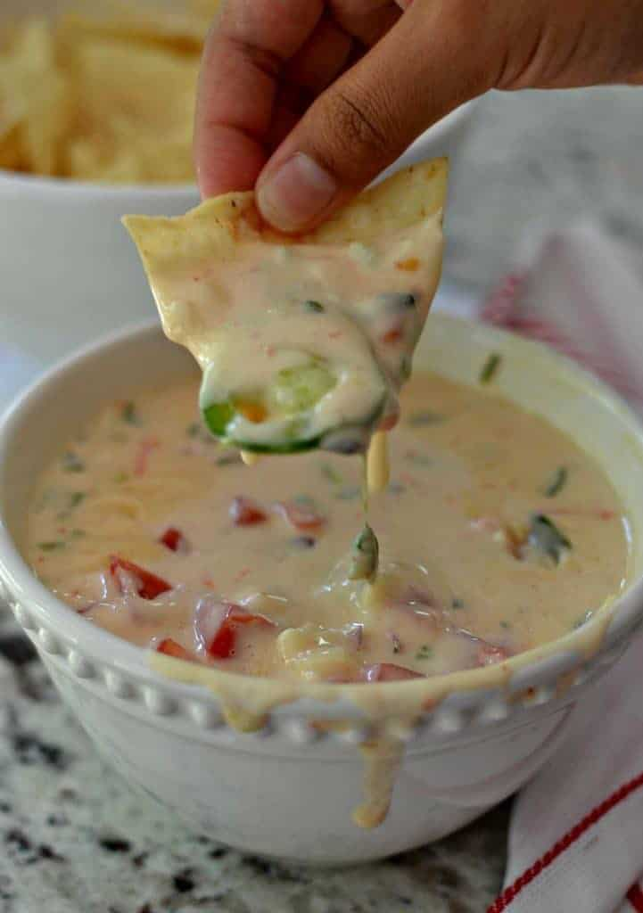 Mouthwatering Good White Queso Dip