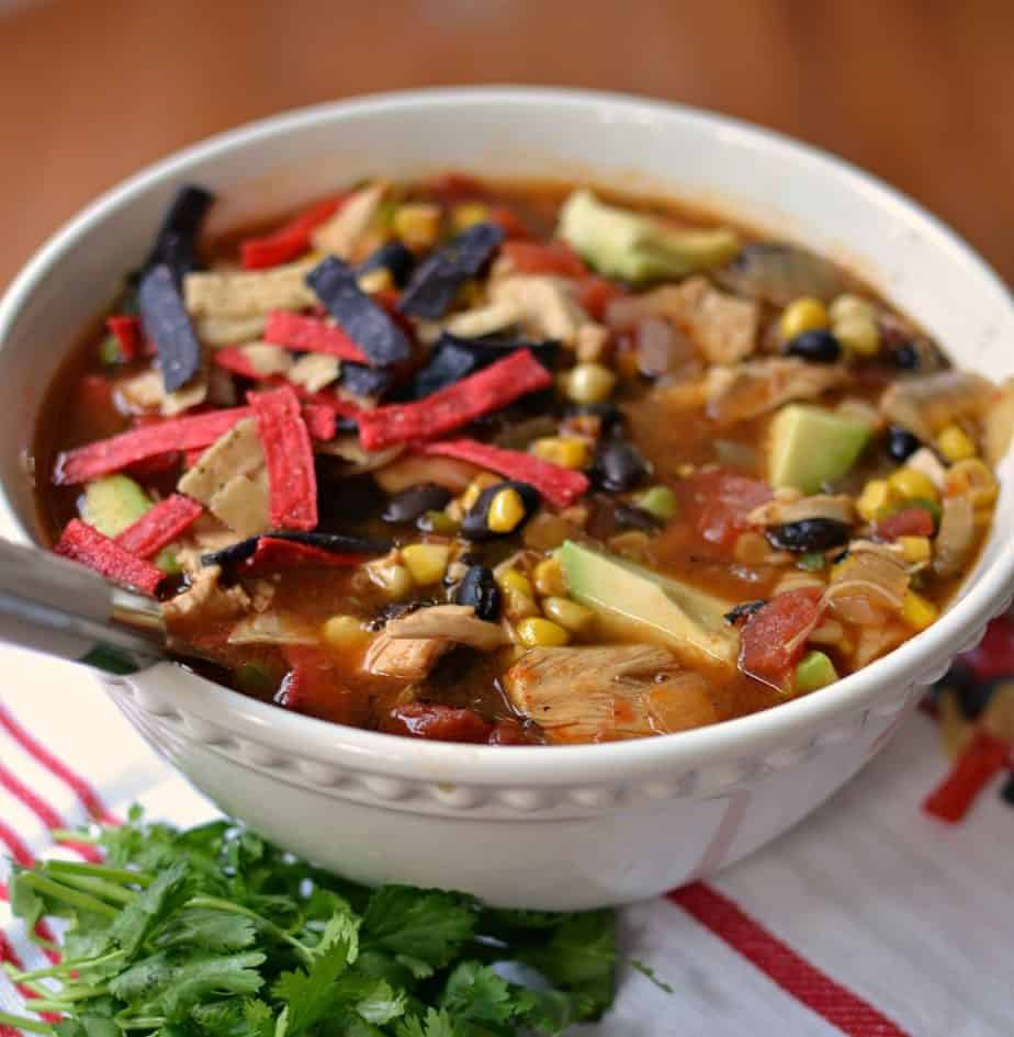 Chicken Tortilla Soup ( A Tasty Medley Of Southwest Flavors