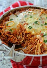 Baked Spaghetti Recipe (A Quick and Easy Weeknight Meal)