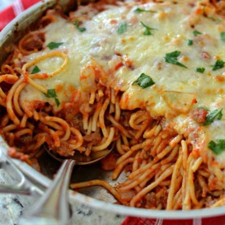 Baked Spaghetti (A Quick and Easy Weeknight Meal)