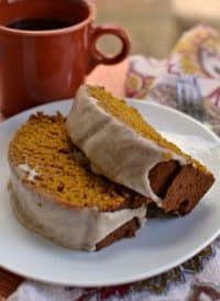 Pumpkin Bread with Cinnamon Glaze (The Perfect Fall Treat)