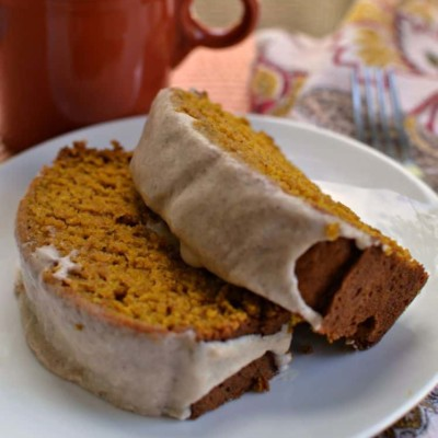 Pumpkin Bread with Cinnamon Glaze
