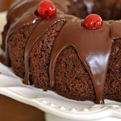 Quick and Easy Chocolate Cherry Cake