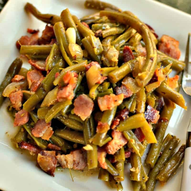 Southern Green Beans Bacon