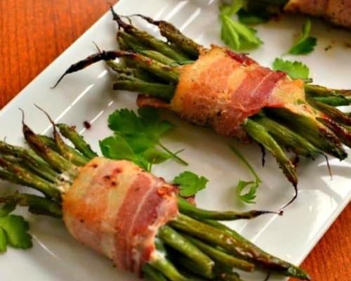 Recipe for Green Bean Bundles with Bacon