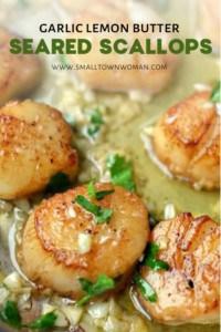 Seared Garlic Lemon Scallops