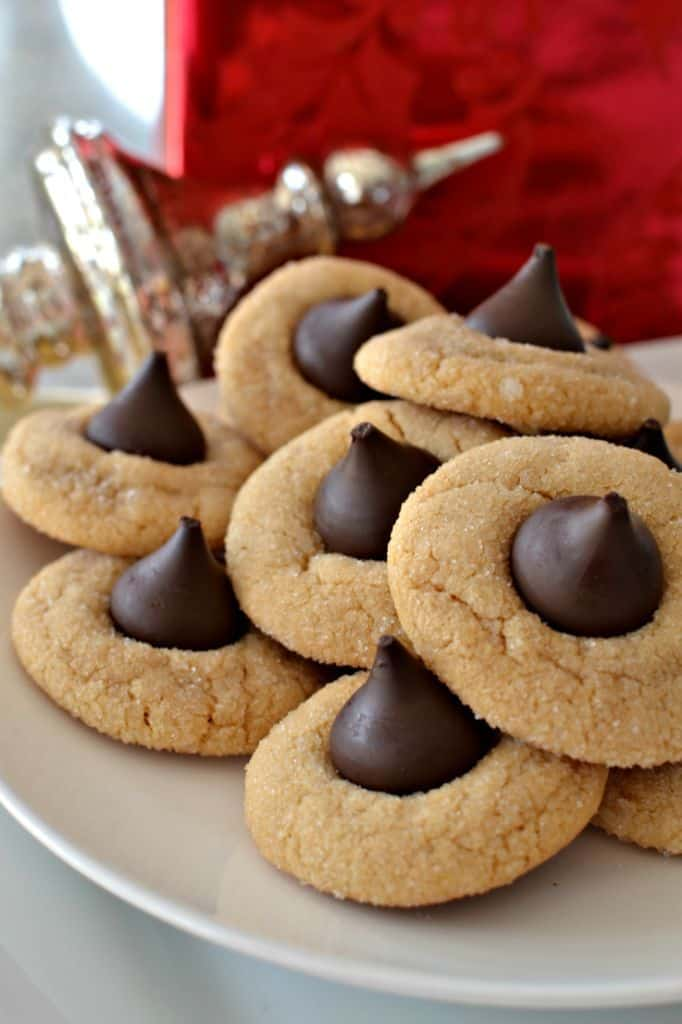 Peanut Butter Blossoms are simple peanut butter cookies with a sweet Hersey's kiss