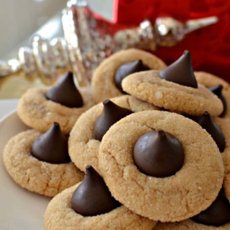 Hershey Peanut Butter Blossom Cookies