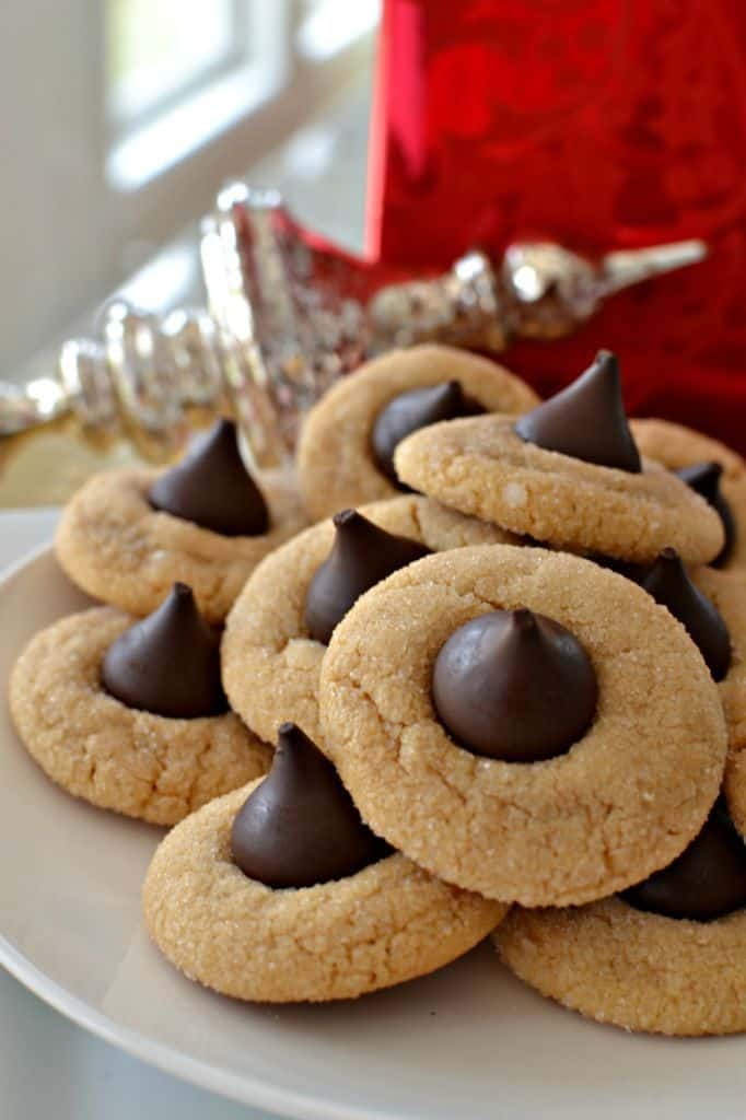 Classic Peanut Butter Blossom Cookies are one of the most popular Christmas cookies.