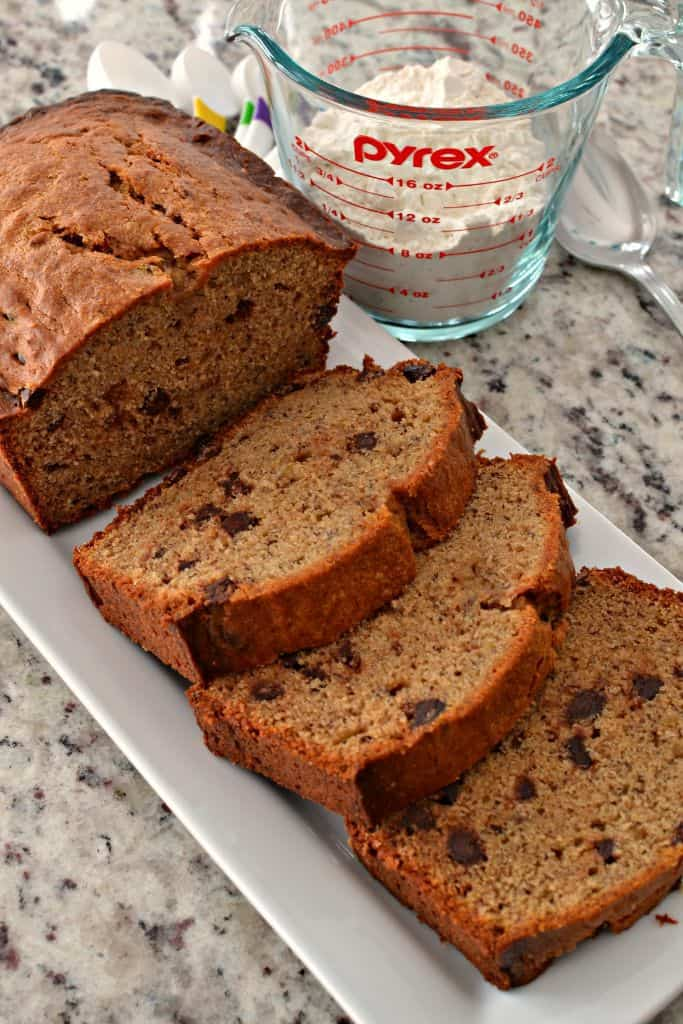 This delicious peanut butter banana bread is a sweet dessert bread that's a flavorful twist on classic banana bread