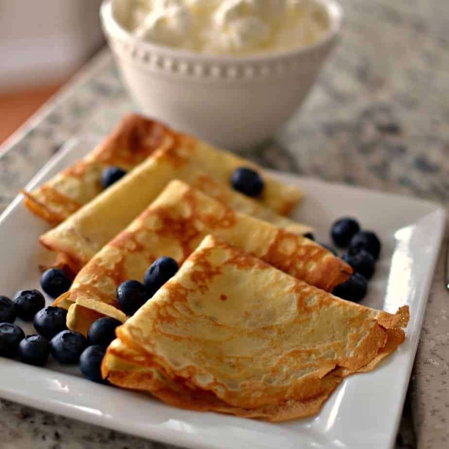 This Easy Crepe Recipe can be made a day in advance and stored in the refrigerator.
