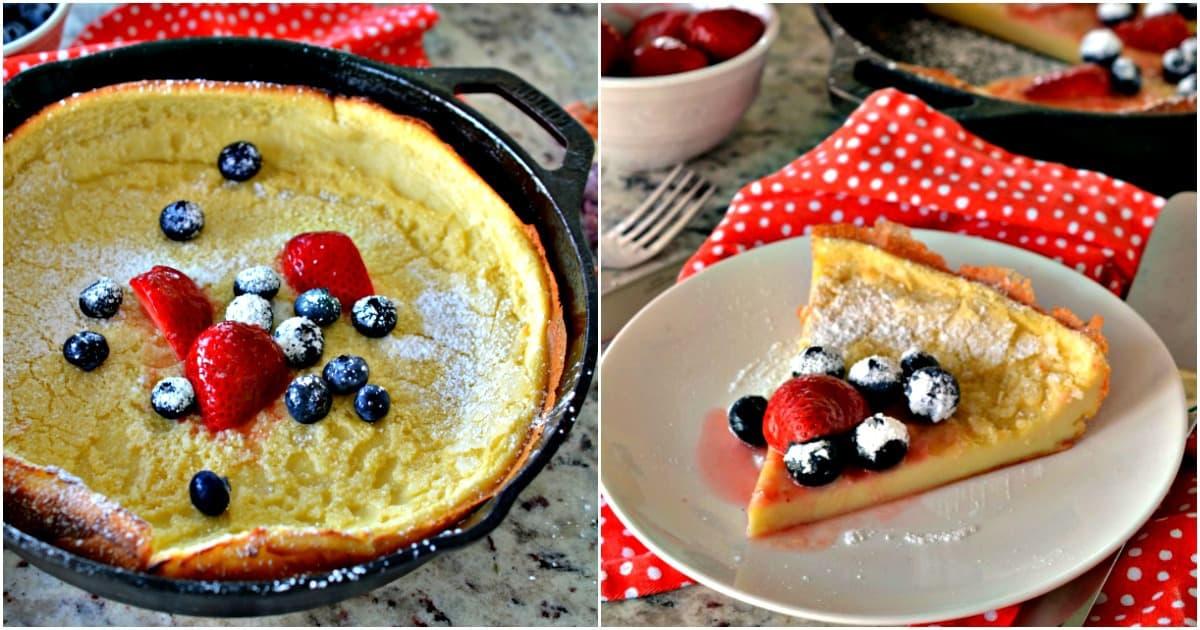 Dutch Baby Pancake (Easy Seven Ingredient Blender Recipe)