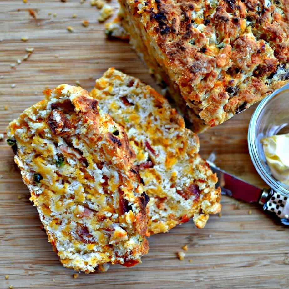 Beer Bread with Bacon, Jalapeno and Cheddar is perfect for sandwiches, chili, soup or just because you love bread.