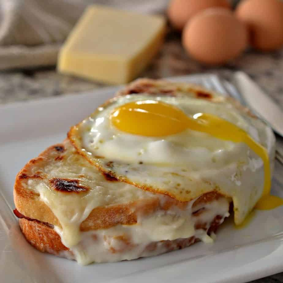 A homemade Croque Madame sandwich is a delicious, fancy breakfast sandwich that's perfect for brunch