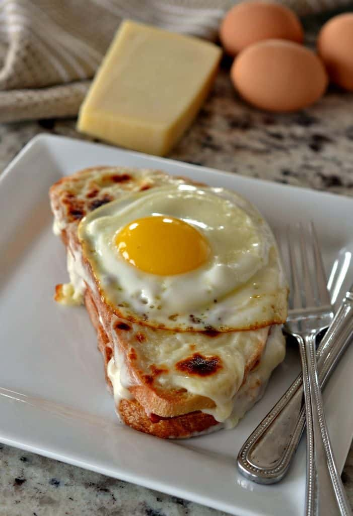 Croque Madame is a delicious sandwich for a weekend brunch