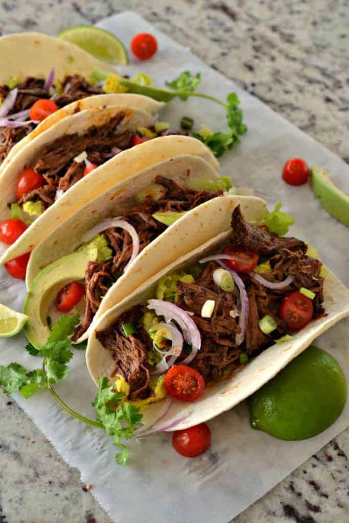 Barbacoa Tacos are a flavorful way to spice up taco night in your home