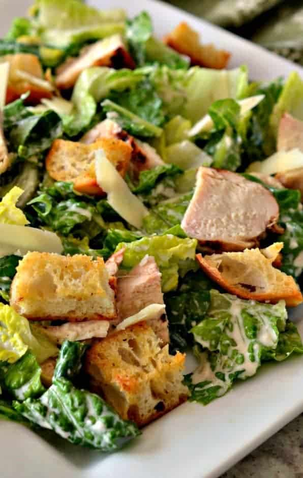 Chicken Caesar Salad is a classic side salad to serve with many dishes