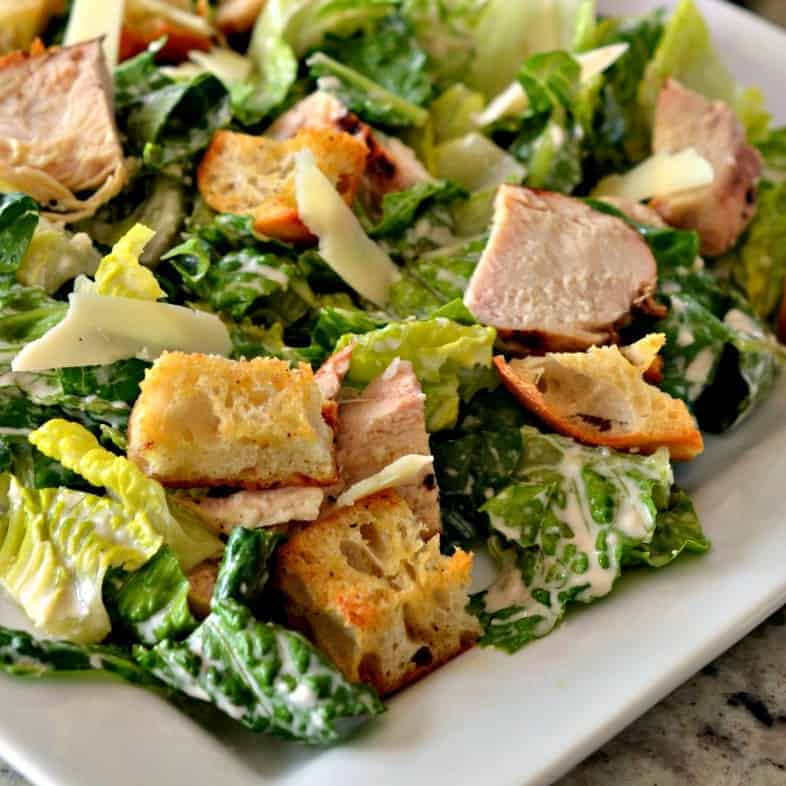 Chicken Caesar Salad With Homemade Dressing Small Town Woman