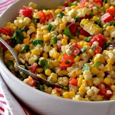 Corn Salad with Easy Lime Vinaigrette