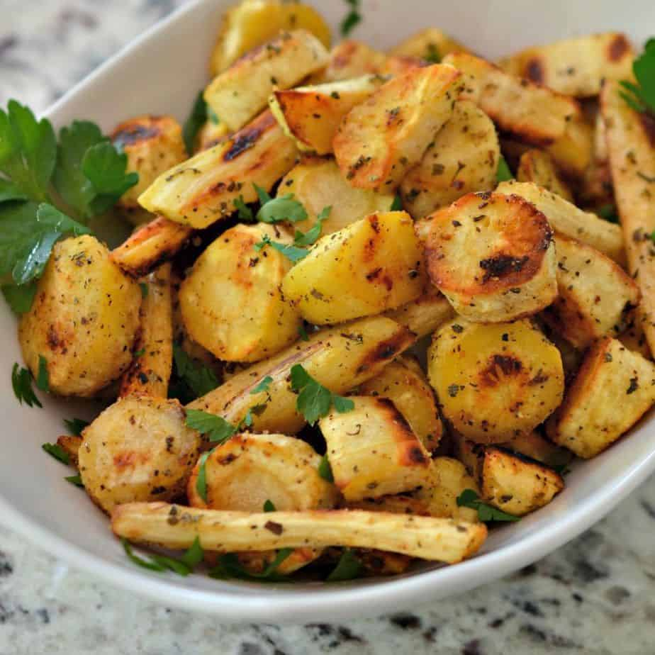 Delicious roasted parsnips are the perfect side dish for many dinners
