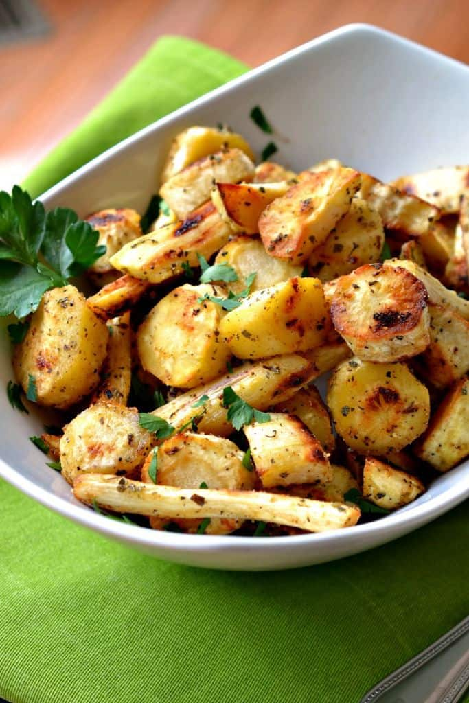 Roasted Parsnips are flavor-packed and seasoned to perfection for an easy, delicious dinner side
